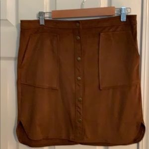 Jolt Skirts - Jolt brown faux suede skirt size 11
